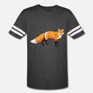 Fox Wild Animal Männer T-Shirt Druck Kurzarm Rundkragen Kawaii Fit Gebäude-Sommer-Art Normale Hemd