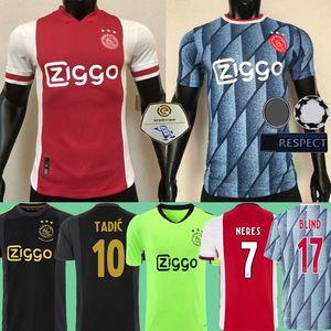 Ajax Herren Kinder 2020 2021 Spieler Version Fußballjerseys S-4XL 20 21 schwarz Torwart 50 Jahre TADIC BIIND NERES CRUYFF Football-Shirts