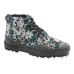 High cheap woodland camouflage militry footwear trainning labor insurance combat vulcanized rubber shoes non-skid outdoor wear shoes U99025