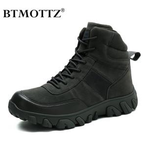 Zapatos de combate táctico botas de cuero genuino de los hombres del Ejército de EE.UU. caza senderismo del alpinismo que acampa de trabajo de invierno Bot BTMOTTZ