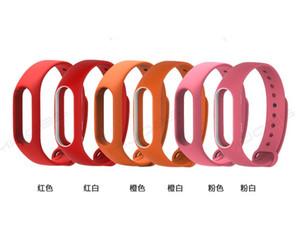 Xiaomi Mi Band 2 kemeri için 200pcs Bilezik Aksesuarları Pulseira Miband Yedek Silikon bileklik Akıllı Bilek