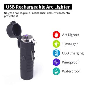 Electric Lighter Portable LED Lighter Flashligh For Outdoor Camping Torch Light Non-adjustable 18650 Rechargeable
