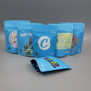 Borse 3.5g Matte Blu alimentari mylar della confezione Borse d'umidità di alluminio Cibo secco per i biscotti Candy Cereali