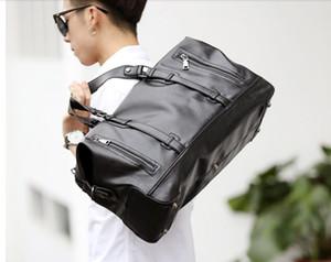 High Quality Mens Travel Shoulder Bag Fashion PU Big Travel Handbag Folding Trip Bag Large Luggage Travel Duffle Bag Men Business Handbag