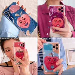 Cute 3D Fruit Phone Case For iPhone 11Pro Max Case With holder For 11 SE XS MAX XR 8 7 Plus Cartoon Funny fruit Cases Stand Soft Cover