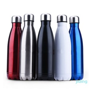 Wholesale-Thermos Flask Travel Sport 304 Stainless Steel Cups Stainless Steel Vacuum Bottles 350ml 500ml 750ml Free Shipping