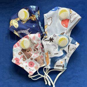 Mode réutilisable enfants design Masque Masque bouche avec Breath Valve lavable anti-poussière Masque Tissu RRA3419