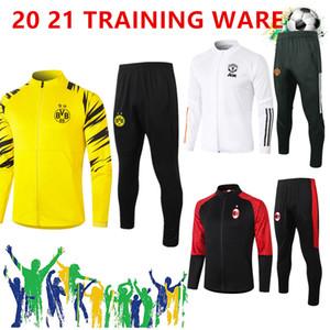 20 21 Ajax Men Football Training Tracksuit Pair Tuta di addestramento da calcio 2020 2021 Paris Dortmund Mbappe Surverseement de Foot Chandal Jogging