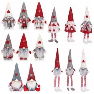 Dos desenhos animados presente Decoração 14style Natal No Face Dolls engraçado Janela boneca de Santa Natal de Ano Novo Brinquedos Decor HHA1506