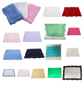 22styles INS Baby Blanket Cotton Embroidered Blanket Infant Ruffle Quilt Toddler Swaddling Breathable bed Air Conditioning Blanket FFA4228