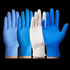 Disposable gloves nitrile glove protective gloves waterproof and anti-corrosion 100pcs   lot Cleaning Gloves Cleaning Tools T2I51529