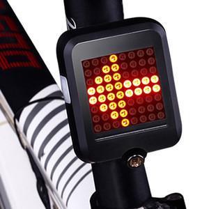 64 LED Automatische Richtungsanzeiger Bike Rear-view USB ladbare Fahrräder MTB Fahrrad-Sicherheits-Warnblinkerleuchten Licht