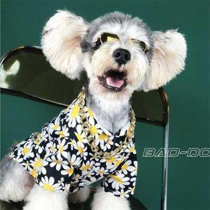 INS الشخصية أزياء سحر الحيوانات الأليفة قميص عصري جميل سحر الحيوانات الأليفة القمصان الكلاسيكية فلورا مطبوعة بش تيدي ملابس