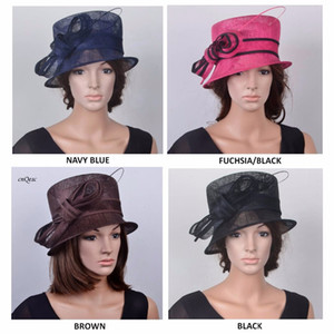 Small brim SINAMAY HAT for wedding races kentucky derby.FREE SHIPPING BY EMS