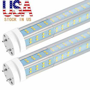 4FT LED أنبوب G13 LED محل ضوء V الشكل 4 صف بقيادة أنبوب 5000K 60W 25PCS