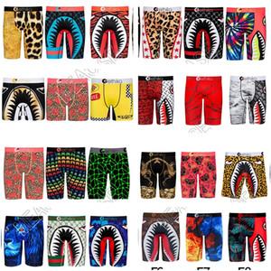 54 Renk Erkek Boxer Şort Pantolon Tasarımcılar Underwears Boksörler luxurys Külot Catoon Ağız Spor Plaj Şort Yıkanma yüzün Sandıklar D82502