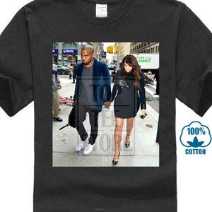 Kim Kardashian Ve Kanye West Tişörtlü Fotoğraf Poster Tee Küçük Orta Büyük XI Büyük Boy Tişörtlü