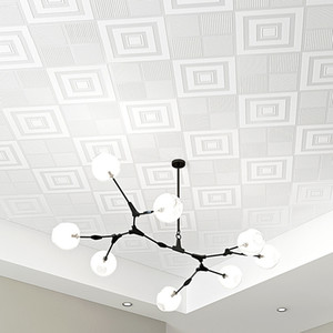 3D Ceiling Paste Ceiling of Roof Roof Wallpaper Bedroom Living Room Modern Minimalist Stereo Continental Diamond Wallpaper