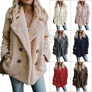 S-5XL delle donne Sherpa Cappotto invernale caldo pile Giacche peluche Outwear il soprabito Plus Size Abbigliamento Boutique Top con rivestimento Silky D82604