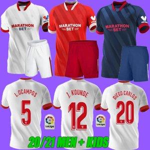 Yetişkin Çocuklar 2020 2021 Seville ev uzakta VAZQUEZ Ben Yedder 20 21 Sevilla fc üçüncü Geis J.NAVAS Yedder futbol Gömlek kırmızı