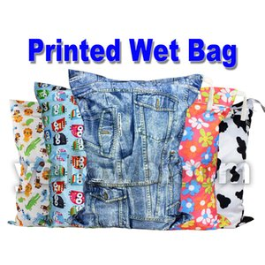 [Littles&Bloomz] Washable Reusable Cloth Diaper Wet Nappy Bag   Waterproof Swim Sport Travel Carry bag  Big Size:40X30cm