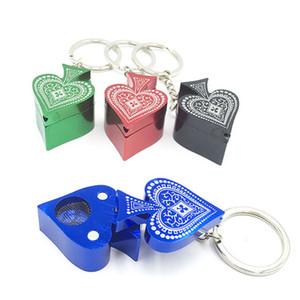 4 Colors Portable Mini Peach Heart Shaped Smokingpipes Creative Heart Shape Metal Smoking Pipes Factory Wholesale Smoking Pipes TQQ BH0868