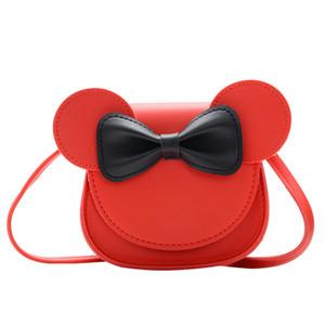 Baby Girl Coin Purse Handbag Children Wallet Small Box Bag Cute Mouse Bow Kid Money Bag Shoulder Purse PU Messenger Christmas gift A159