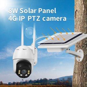 P2P 2MP Solar panel power supply 4G WIFI IP PTZ Cameras Cloud storage IR vision outdoor Solar battery Rechage 4g wifi IP Cameras