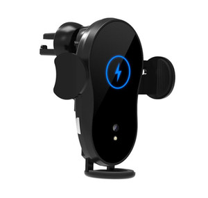 1XS 15W Wireless Charger Car Phone Holder Qi Induction Sensor Fast Charging Stand Mount For smartphone1