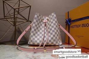 M44022 NEONOE bianco rosa NAVAS secchio di cuoio borsa Hobo Borse Top Manico BOSTON MESSENGER Shoulder Bags