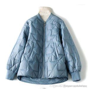 Ladies Coats Casual Female Baseball Down Outerwear Women Winter Parkas Long Sleeve Loose Crew Neck Fashion