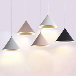 Nordic просто современная люстра творческой личности LED ресторан свет Macaron стиль ресторана подвесной светильник бар лампа