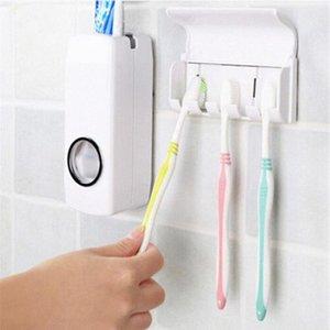 디스펜서 치약 Teethbrush 홀더 실용 2 조각 세트 게으른 사람 자동 치약 디스펜서 칫솔 욕실 제품 zjs6 #