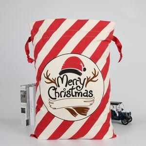36 Styles Christmas Gift Bags Santa Claus Environmental protection beam Canvas Bag 50*70 cm Xmas custom elk candy Gift Handbags M132