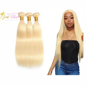 Imi Hair High Quality Blonde 613 Brazilian Human Virgin Hair Bundles Remy Straight Weaves 10A Grade