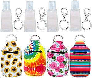 2020 Borse CALDO Portachiavi Neoprene Hand Sanitizer Bottle Holder portachiavi Portachiavi Sapone Bottle Holder 35 Styles