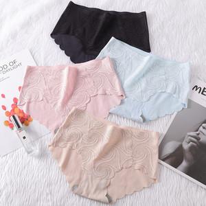 de Nova Mulheres Sexy Lace Underwear Tamanho Grande Cotton Inner Fina Viscose fibra respirável Mid-cintura Briefs Factory Outlet