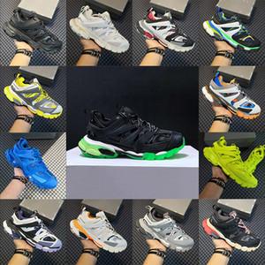2020 Triple s Track piattaforma Casual Scarpe Uomo Donna di aumento di altezza da ginnastica verde bianco bagliore blu nel buio bianche scarpe da ginnastica nere