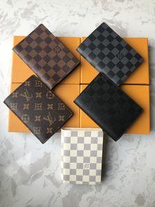 il progettista del mens portafoglio famosi uomini di lusso portafogli speciale multipla piccolo portafoglio bifold breve pu con la scatola, di Louis Vuitton