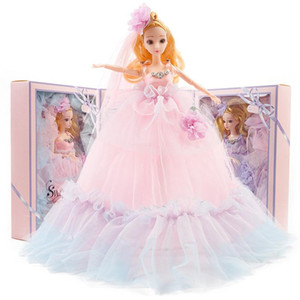 40cm Wedding Dress Clothes Doll Princess Evening Kids Barbie Wears Birthday Party Dress Set Outfit Accessories Toys Girl Long Gift Khwme
