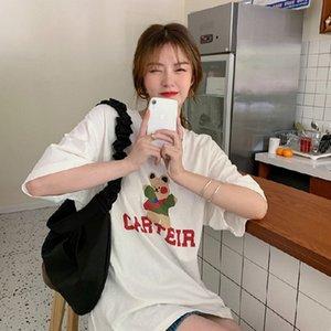 celebridad OJlkx BDuyL Internet Underpants Super Coat caliente para las mujeres 2020 nuevo verano del estilo de Corea ins sueltos moda camiseta de manga corta TopTop