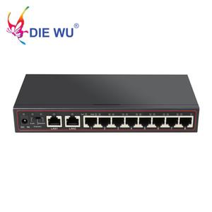 10 ports POE Commutateur 52V réseau Ethernet Switch 8 PoE Switch Injecteur pour caméra IP / sans fil AP / Système de caméra CCTV