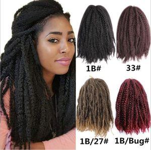 Spedizione gratuita Big Caterpillar One Pezzo di 24 trecce African African Popolare sporco intrecciato Marley Treaid Crochet Hair