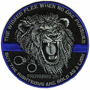 Top-Qualität Der Gerechte Bold As A Lion Patch für Law Enforcement Real Man Chest Jacke Eisen auf Flecken-freies Verschiffen ftLu #