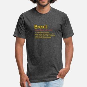 brexit divertente rimanere eu No Deal t uomini della camicia di stampa del cotone rotonda Camicia convenzionale del collo originale carina con la costruzione della molla