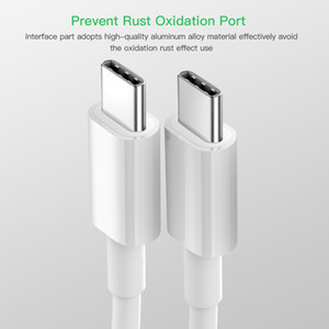 USB C para USB tipo C Cabo para Xiaomi redmi Nota 8 Pro Quick Charge 4.0 PD 60W carregamento rápido para MacBook Pro S11 Charger Cable