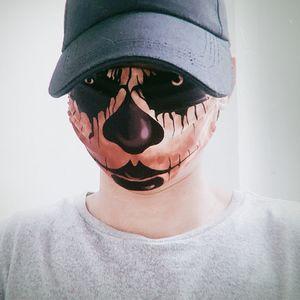 facemasks mascarar adulta europeia e transfronteiriça abóbora de Halloween paródia palhaço máscara de caveira americano poeira e respirável ajustável
