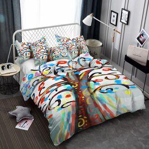 BEST.WENSD Kalın nevresim seti süper kral colorfast beding set Lifte ağaç kış yetişkin yatak örtüleri Büyük, medium.small 2/3 parça