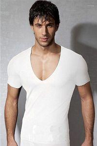 Boys Tees Short Sleeve Skinny Pullover Male Clothing Designrt Summer Mens Active Tshirts Slim Scoop Neck Solid