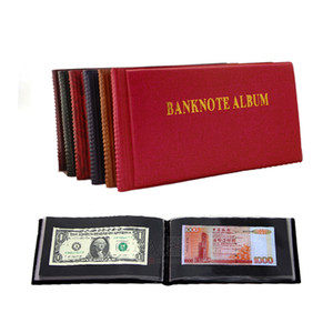 Sheet 40 openings Banknote album, Paper money currency stock collection protection album C0926